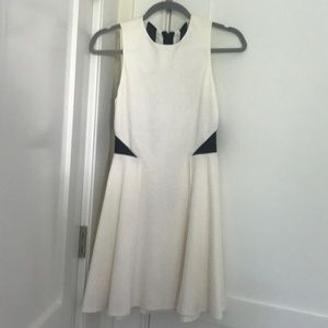 Alice and Olivia white and black lace dress